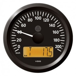 VDO ViewLine Speedometer 200 Km/h Black 85mm