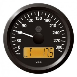 VDO ViewLine Speedometer 300 Km/h Black 85mm
