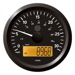 VDO ViewLine Speedometer 30 Mph Black 85mm