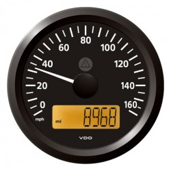 VDO ViewLine Speedometer 60 Mph Black 85mm