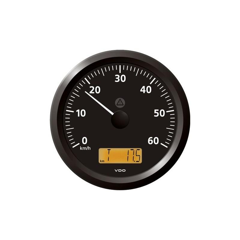 VDO ViewLine Snelheidsmeter 60 Km/h Zwart 110mm