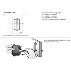 VDO ViewLine Snelheidsmeter Pitot 50kn Zwart 85mm