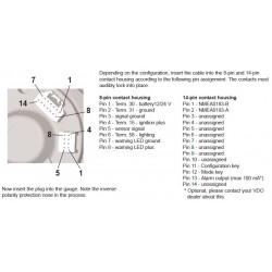 VDO ViewLine Triducer Sumlog Kit 12kn Zwart 85mm