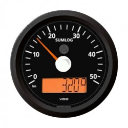 VDO ViewLine Sumlog & compass 30kn Black 85mm