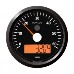 VDO ViewLine Sumlog & compass 60mph Black 85mm