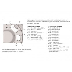 VDO ViewLine Sumlog & Kompas 30kn Wit 85mm