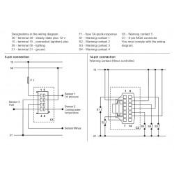 VDO ViewLine Combi 4 in 1 Wit 110mm