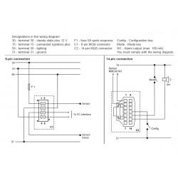 VDO ViewLine Sumlog Kit 12kn Wit 85mm