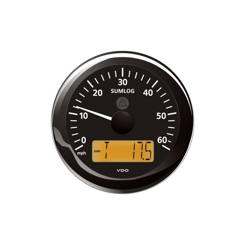 VDO ViewLine Sumlog Snelheid 60mp Zwart 85mm