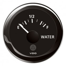 VDO ViewLine Drinkwaterniveau 3-180 Ohm Zwart 52mm