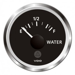 VDO ViewLine Fresh Water Level 3-180 Ohm Black 52mm