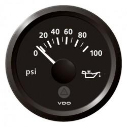 VDO ViewLine Motoroliedruk 100PSI Zwart 52mm