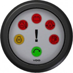 VDO ViewLine Engine warning gauge White 52 mm