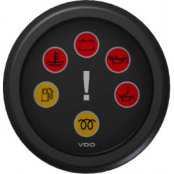 VDO ViewLine Cabin warning gauge Black 52 mm