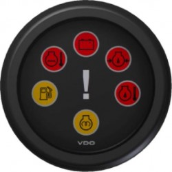 VDO ViewLine Engine warning gauge Black 52 mm