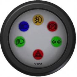 VDO ViewLine Led Motor Überwachung Schwarz 52mm