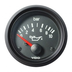VDO Cockpit International Motoroliedruk 10Bar 52mm 24V