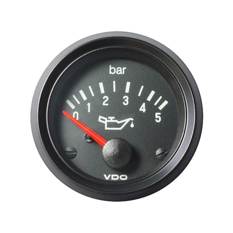 VDO Cockpit International Motoroliedruk 5Bar 52mm 24V