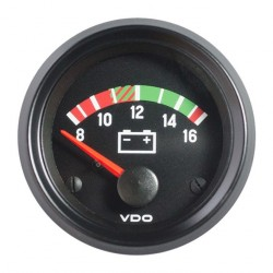 10 Stuks VDO Cockpit International Voltmeter 8-16V 52mm 12V