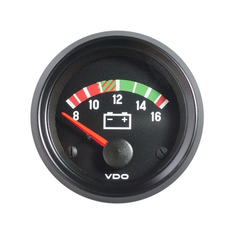 10 Stuks VDO Cockpit International Voltmeter 8-16V 52mm 12V