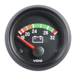 10 Stuks VDO Cockpit International Voltmeter 18-32V 52mm 24V