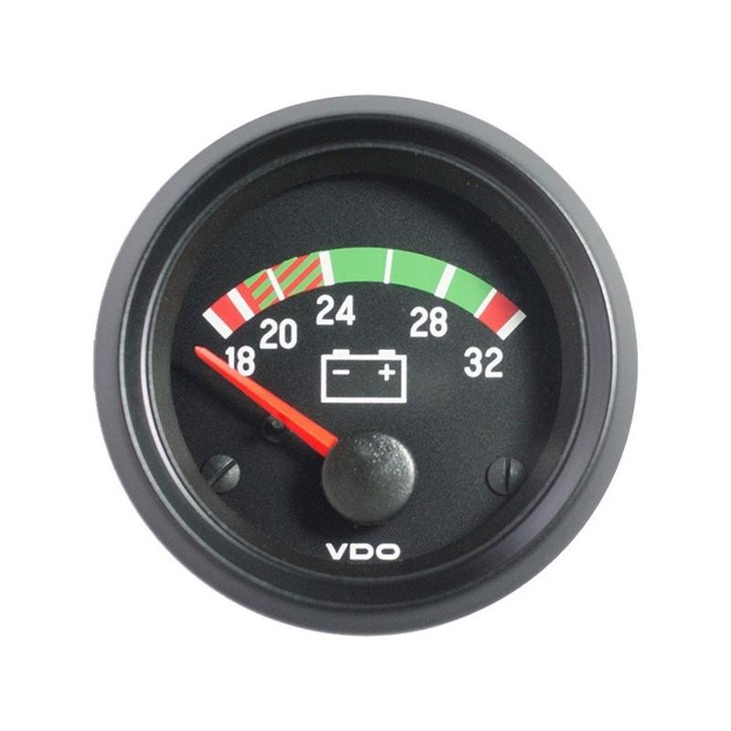 10 Stuks VDO Cockpit International Voltmeter 18-32V 52mm 24V