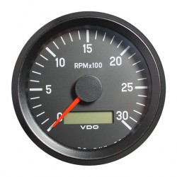 VDO Cockpit International Tachometer 3.000 RPM 80mm 12-24V