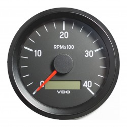 VDO Cockpit International Tachometer 4.000 RPM 80mm 12-24V