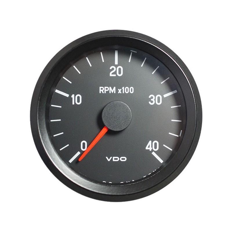 VDO Cockpit International Toerenteller 4.000 RPM 80mm 12V