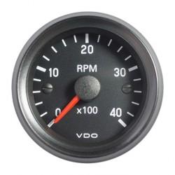 VDO Cockpit International Toerenteller 4.000 RPM 52mm 12V