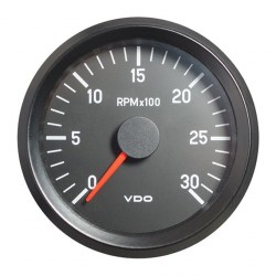 10 Pieces VDO Cockpit International Tachometer 3.000 RPM 80mm 24V