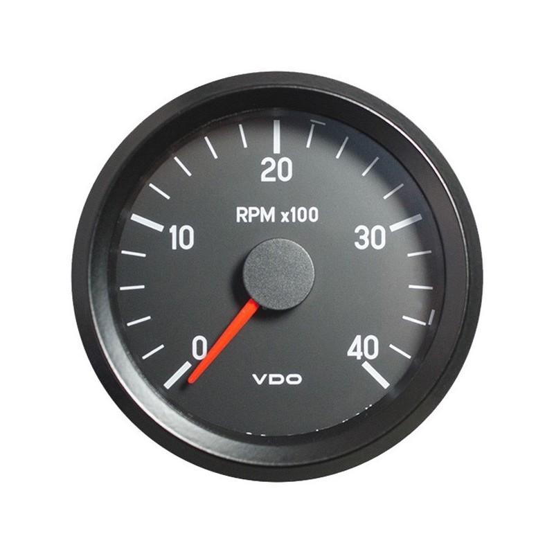 Vdo Cockpit International Tachometer 4 000 Rpm 80mm 24v