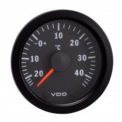 10 Stück VDO Cockpit International Lufttemperatur 50°C 52mm 12V
