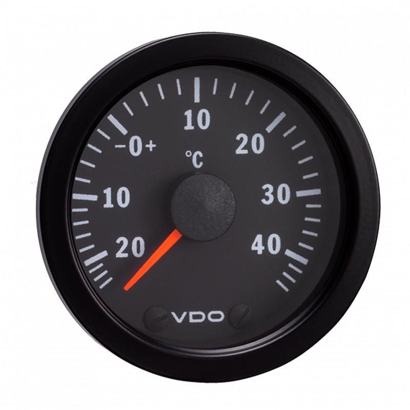 VDO Cockpit International Luchttemperatuur 50°C 52mm 12V