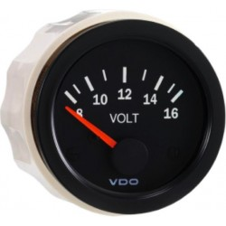 10 Pieces VDO Cockpit Vision Voltmeter 8-16V 52mm 12V