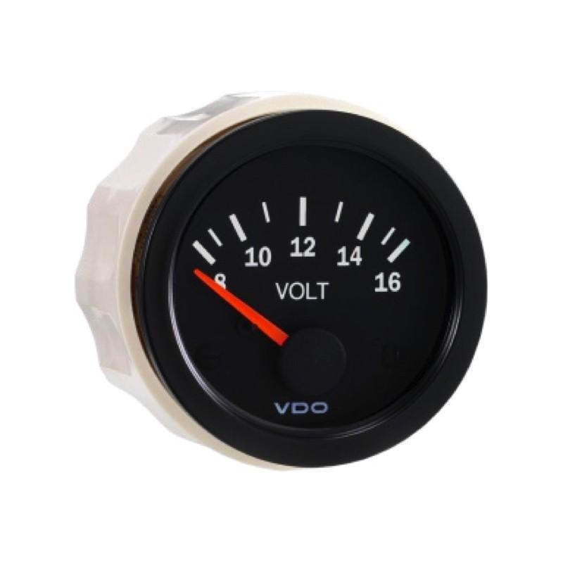 VDO Cockpit Vision Voltmeter 8-16V 52mm 12V STB