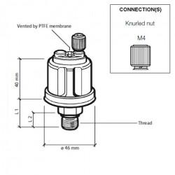 VDO Druksensor 0-10 Bar - R1/8 DIN 2999
