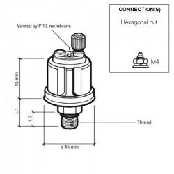 VDO Pressure sender 0-16 Bar - M12