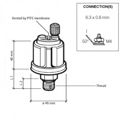 VDO Druckgeber 0-25 Bar - M10