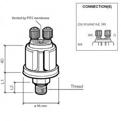 VDO Druksensor 0-10 Bar - M18