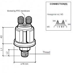 VDO Druksensor 0-7 Bar - 1/8-27 NPTF