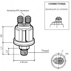 VDO Druksensor 0-5 Bar - M14