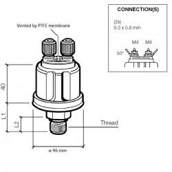 VDO Druksensor 0-2 Bar - M12