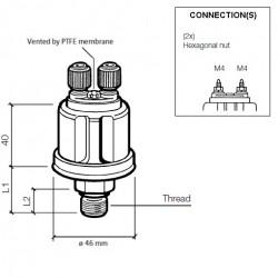 VDO DS Pressure sender 0-28 Bar - 1/8-27 NPTF