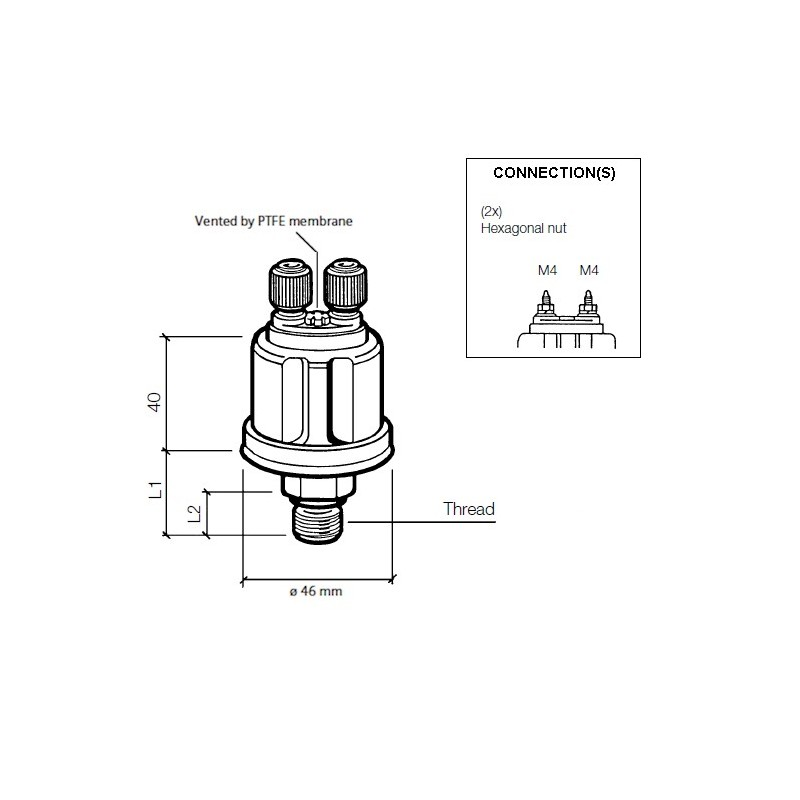 vdo ds pressure sender 0-28 bar  8