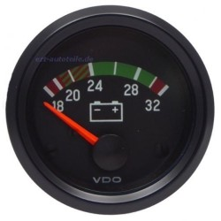 10 Pieces VDO Cockpit Vision Voltmeter 16-32V 52mm 24V