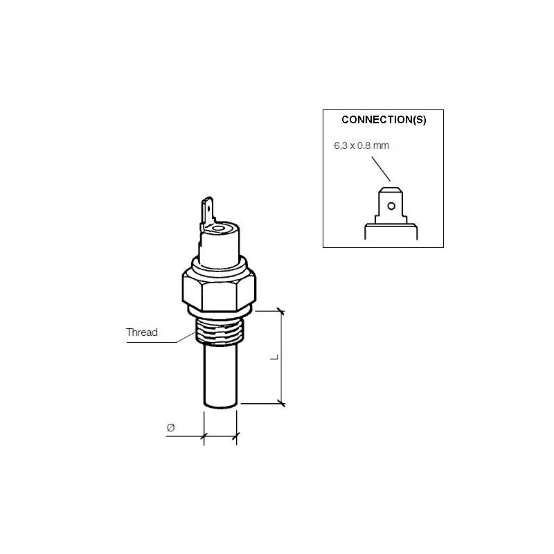 VDO Temperatuurschakelaar 120°C - 3/8 BSPF