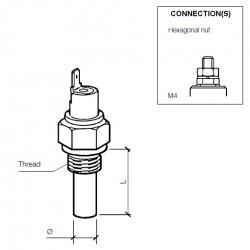 VDO Temperatuurschakelaar 105°C - M14