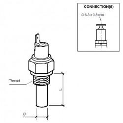 VDO Temperatuurschakelaar 170°C - M10
