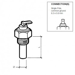 VDO Coolant temperature sender 120°C - M14